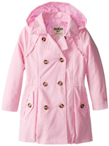 Osh Kosh Girls 2-6X Solid Color Trench