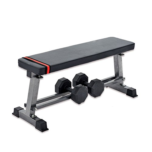 "Lucky Tree Flat Weight Bench with Bulit-in Barbell Storage Rack for Home Gym Fitness Training Ab Exercises Board Workout Benches, 660lbs Capacity,40.5""Lx14.5""Wx18""H by Lucky Tree"
