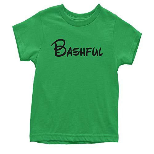 Expression Tees Youth Bashful - 7 Dwarfs Costume T-Shirt X-Large Kelly Green ()