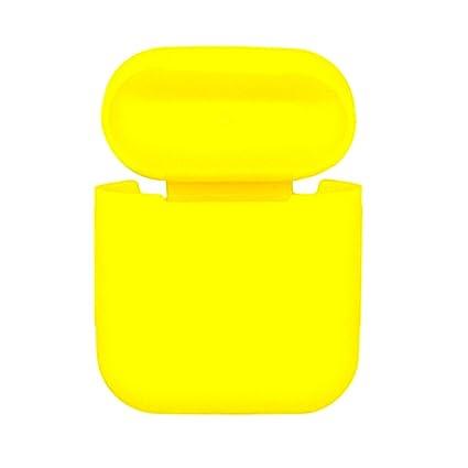 IPOTCH 1 Pieza de Funda de Auriculares Impermeable Cargador para Apple Airpods de Amarillo