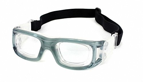Ray Ron Sports Goggles Safety Protective Basketball Glasses for Unisex with Adjustable Strap for Basketball Football Volleyball Hockey Rugby (Grey)