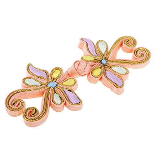 1 Pair Chinese Frog Knot Closure Dragonfly Buttons Sewing Handmade Crafts (Style - Dragonfly)
