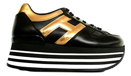 Hogan , Damen Sneaker Schwarz NERO + ORO
