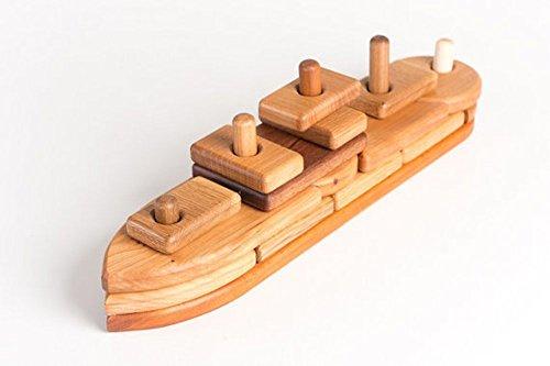 Handmade-Organic-Wood-Boat-Puzzle-Block-Set