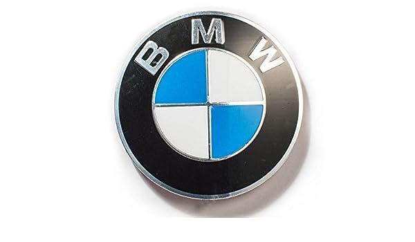 Genuino del centro de rueda de 70mm emblema del casquillo de la etiqueta engomada 36136758569: Amazon.es: Coche y moto