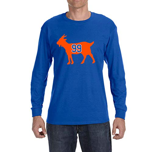Tobin Clothing Blue Edmonton Gretzky Goat Long Sleeve Shirt Youth Small
