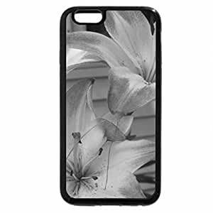 iPhone 6S Case, iPhone 6 Case (Black & White) - stargazer lilies