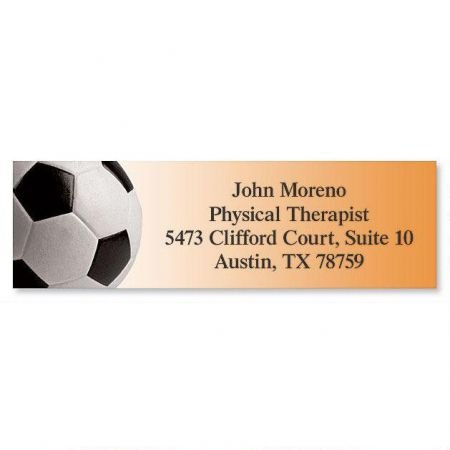 Soccer Small Return Address Labels - Set of 240 2