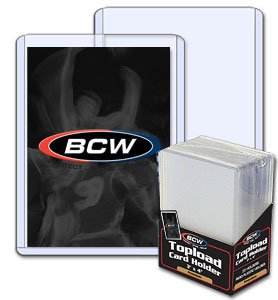 50 Collectible Trading Card 3 x 4 x 7 mm - Thick Card Topload Holders 240 pt BCW