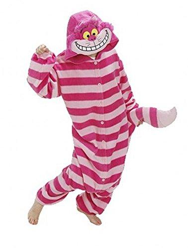 Sweetdresses Adult Unisex Animal Sleepsuit Kigurumi Cosplay Costume Pajamas (X-Large, Cheshire Cat)