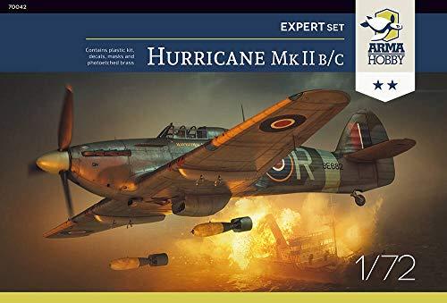 Arma Hobby 1/72 Scale Hurricane Mk II B/C Expert Set - Plastic Model Building Kit # 70042 1