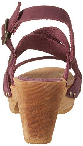 Sanita Olympia Square Flex Sandale - Sandalias con cuña Mujer Púrpura (Aubergine)