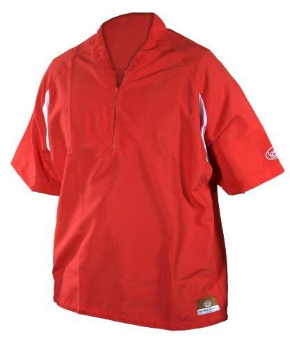 Louisville Slugger Youth Slugger Batting Cage Pull-Over with 1/4 Zip, Red, Medium
