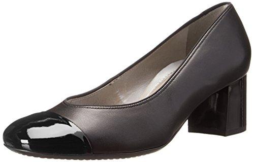 Ara Women's Lian Dress Pump - Black Leather/Patent Toe - ...