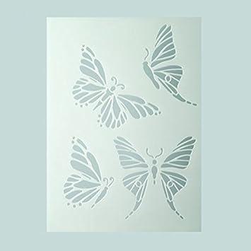 efco Schablone mit Schmetterlings-Motiv, 4 Designs, aus Kunststoff ...