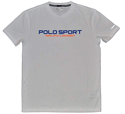 Polo Ralph Lauren Sport Performance Tee Shirt (Pure White, X-Large)