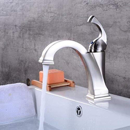 JingJingnet ew真鍮オイルこすりブロンズ黒蛇口浴室の蛇口バニティ容器シンクミキサータップ冷たいとお湯タップブラックミキサー (Color : B) B07RPV32K9 B