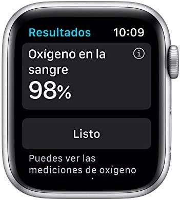 Nuevo AppleWatch Series6 (GPS + Cellular)- Caja de aluminio color plata de 44mm- Correa deportiva blanca - Estándar 5