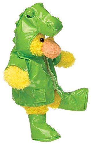 Mary Meyer Silly Slickers - Plush Duck in T-Rex Rain Gear - 11