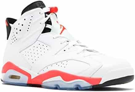 timeless design 3b55b 30307 Jordan Air 6 Retro Men s Basketball Shoes White Infrared-Black 384664-123 (