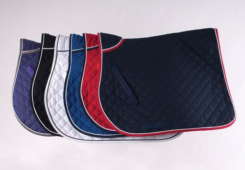 (Royal Blue, Cob) - Rhinegold Quilted Horses Saddle Cloth With Piped Edge   B00DCDM1UO
