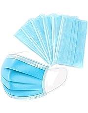 كمامة لحماية الوجه، 50 قطعة - ازرق فاتح بأستك و دعامة