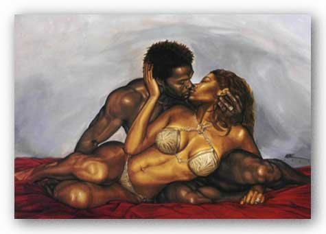 """Bruce Teleky The Kiss by Kevin A. Williams (WAK) 24""""x36"""" Art Print Poster from Bruce Teleky"""