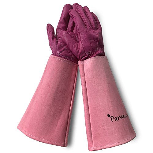 Pretty Pink Elbow Length Thorn Proof Garden Gloves
