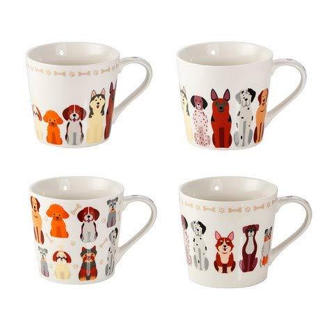 Juego 4 Tazas de Café Originales, Tazas Grande Mug para Te ...