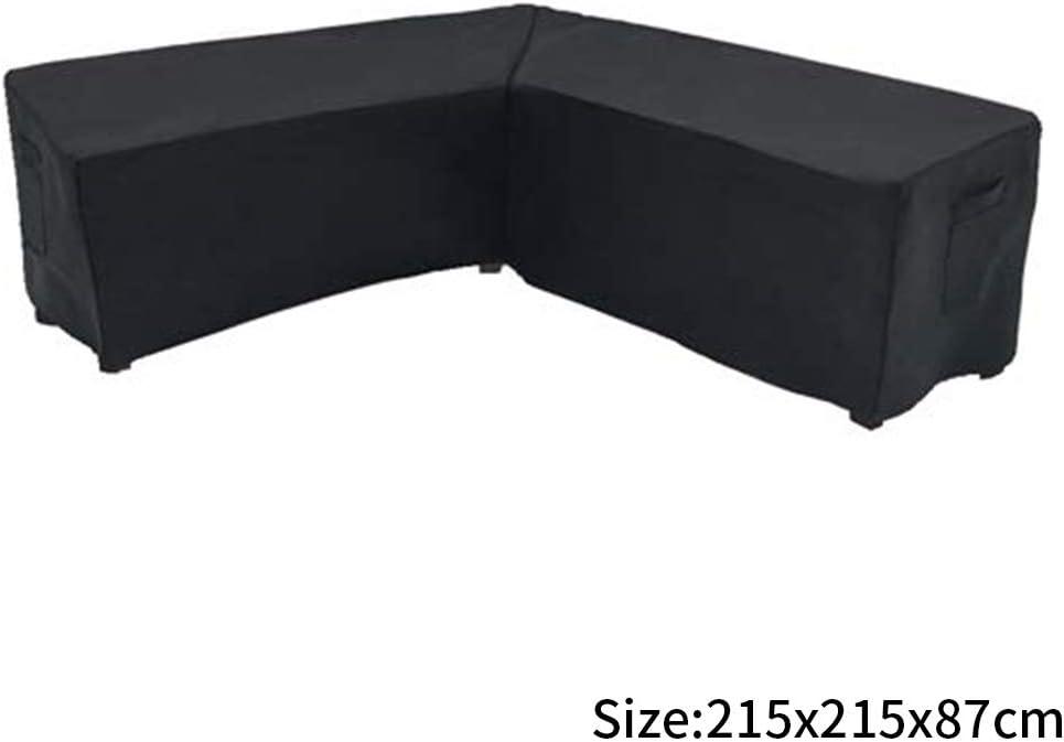 staubdicht UV-Schutz Yzki Gartenm/öbel-Abdeckung praktische Sofa-Couch-V-Form Polyester Terrasse Winddicht Wie abgebildet rechteckig 215x215x87cm f/ür Au/ßenbereich
