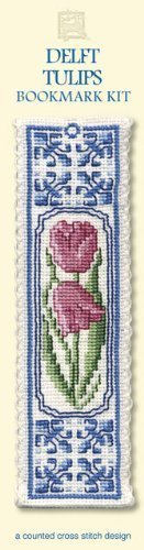 Delft Tulips Bookmark - Cross Stitch Kit