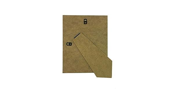 Soporte trasero para marco de fotos con pata de recambio, en fibra de densidad media de 1,5 mm, madera, 8 x 6