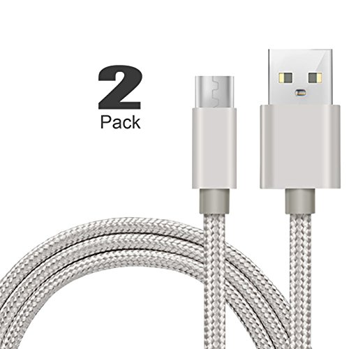 [2Pack]Micro-USB Cable,iBarbe Nylon Braided 5FT for Amazon Kindle Fire Tablets,HD,Fire HD 8 10,HDX 8.9