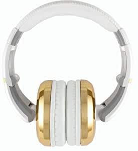 The Sessions Professional Closed-Back Studio Headphones by CAD Audio, White with Gold