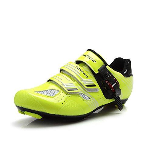 Tiebao Ultraleicht Rennrad Schuhe Männer Atmungsaktive Selbstsichernde Turnschuhe Grün
