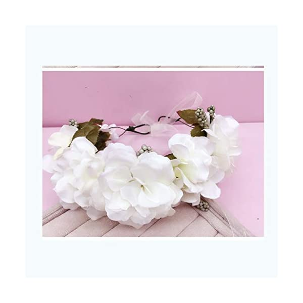 WMY #Spring Wreath Headdress Flower Wreath Hair Accessories Headband Corolla Holiday Wedding Photo Photo Jewelry Easter Wreath (Color : A)