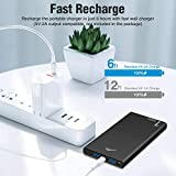 10000mAh Cell Phone External Battery Pack, Portable Phone Charger Power Bank 5V 3.1A Fast Charging Travel Mobile Phone Charger Compatible with iPhone 6/6s/7/8/X/XS/XR/11/iPad and More