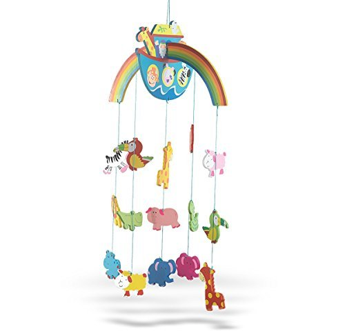 (Wooden Noah's Ark with Animals Crib Mobile for Baby Nursery, 26)