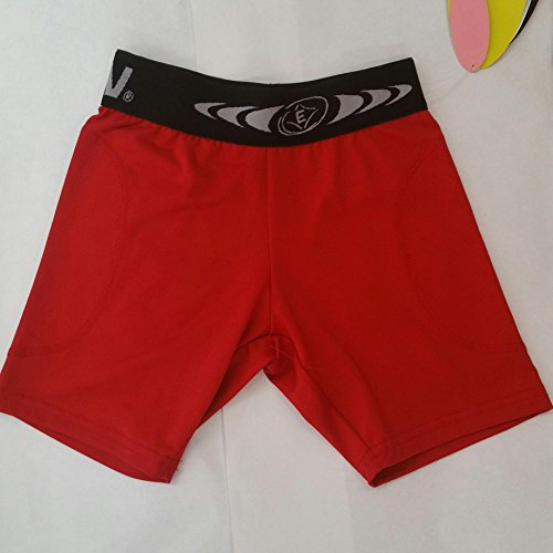 EASTON GIRLS SLIDING SHORTS, RED, LARGE by SKILZ