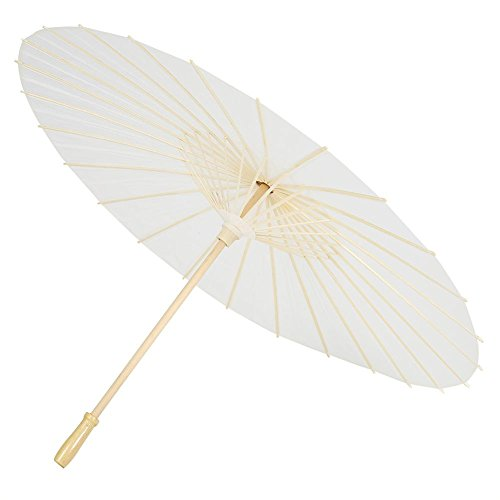 Amazon.com: Paper Umbrella, Decorative White Paper DIY Parasol for Wedding Bridal Party Decor Photo Prop Personal Sun Protection: Home & Kitchen