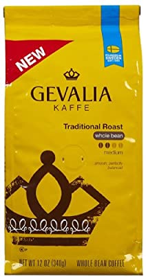 Gevalia Premium Traditional Roast Whole Bean Coffee-12 oz