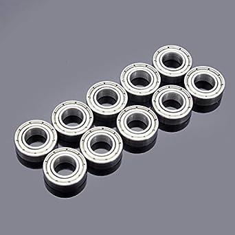 10Pcs 5mm*16mm*5mm Carbon Steel Single Row Deep Groove Radial Ball Bearing Kit