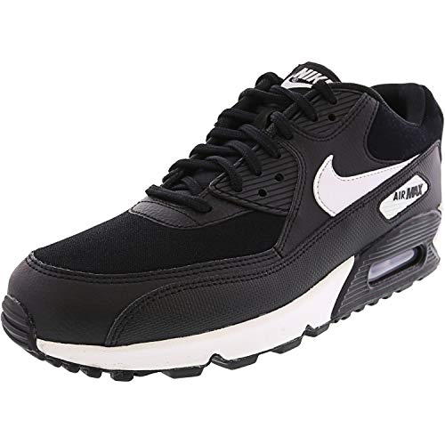NIKE Women's Air Max 90 Running Shoe, Black/White, 11 M US (Womens Max Sneakers Nike Air)