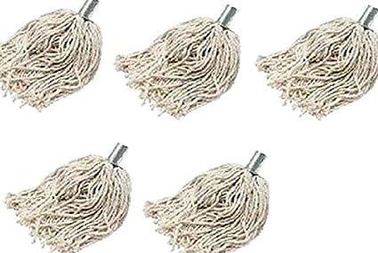 Cabezales de fregona algodón cuerda 6 x con acero Restickable ...