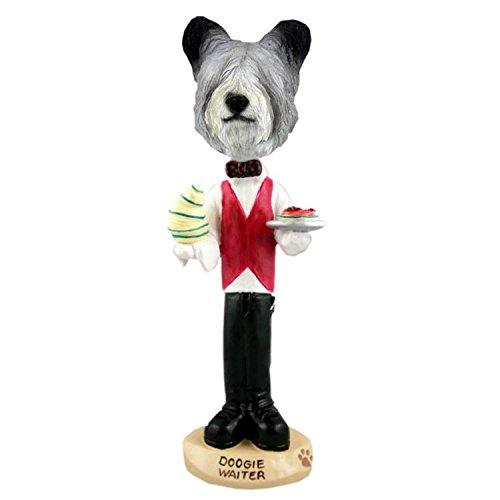 (Conversation Skye Terrier Waiter Doogie Collectible Figurine)