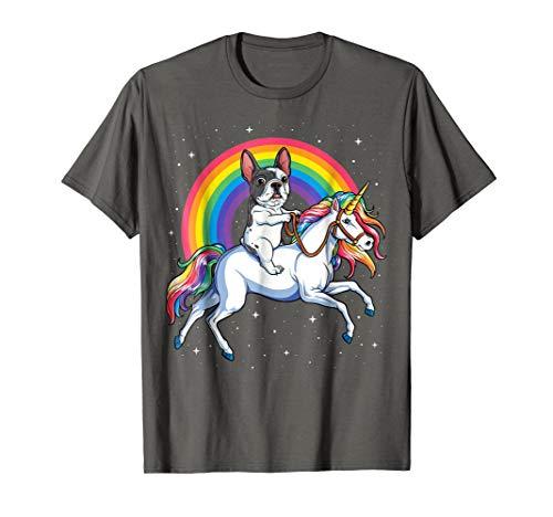 French Bulldog Unicorn T shirt Men Kids Space Galaxy Rainbow