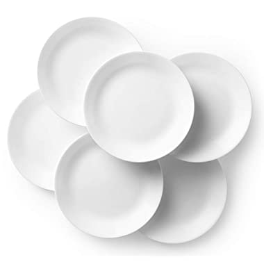 Corelle Winter Frost White Dinner Plates Set (10-1/4-Inch, 6-Piece)