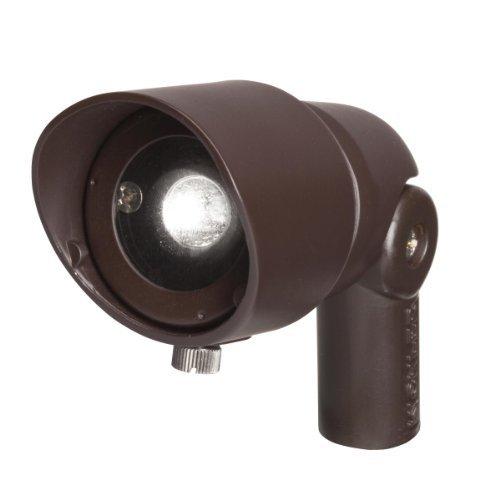 Kichler Lighting 16003BBR30 Landscape Cast Brass 12V/4-watt 1-Diode LED 10-Degree Adjustable Spot Light, Bronzed Brass by Kichler Lighting