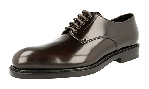 Prada Men's 2EA072 055 F0192 Brown Leather Business Shoes EU 10 (44)/US 11 by Prada (Image #7)
