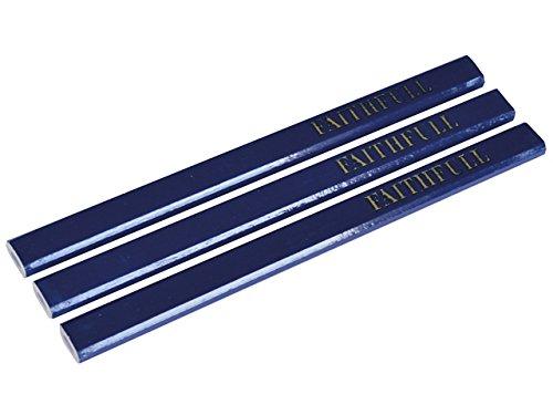 blau weich,/6/Bleistifte Handwerkerbleistifte von Faithfull flach